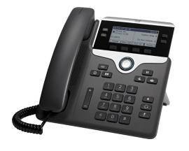 7841 teléfono IP Negro, Plata Terminal con conexión por cable LCD 4 líneas - Imagen 1