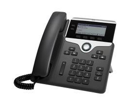 7821 teléfono IP Negro, Plata Terminal con conexión por cable 2 líneas - Imagen 1