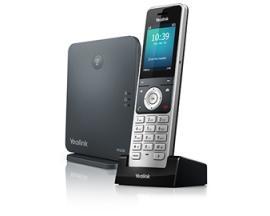 W60P teléfono IP Negro, Plata Terminal inalámbrico TFT - Imagen 1