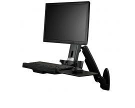 StarTech.com Estación de Trabajo de Pie y Sentado para Montaje en Pared - Para Un Monitor de hasta 24 Pulgadas - Escritorio Ergo