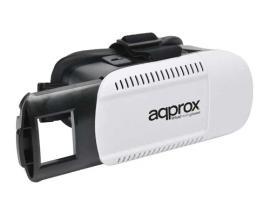 Approx appVR01 Gafas de realidad virtual Negro, Blanco 360 g - Imagen 1