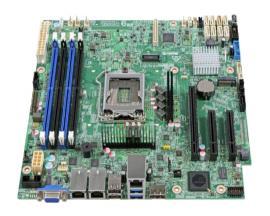 Intel S1200SPSR placa base para servidor y estación de trabajo Micro ATX Intel® C232 - Imagen 1