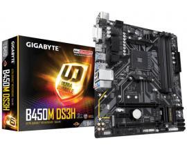 Gigabyte B450M DS3H (rev. 1.0) placa base Zócalo AM4 Micro ATX AMD B450 - Imagen 1