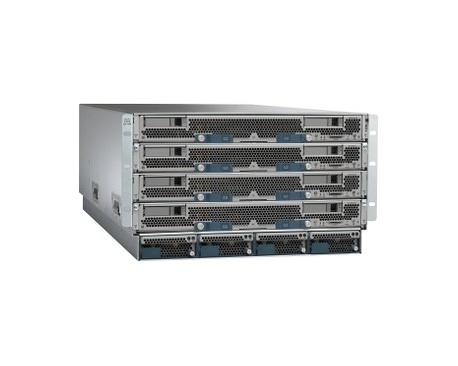 Armario para Servidor de Cuchilla Cisco UCS 5108 - Montaje en bastidor - 6U - 2 x Compartimiento(s) - 8 xVentilador(es) instalad
