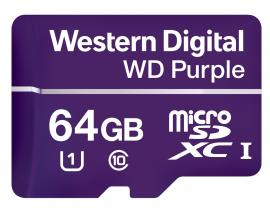 Purple memoria flash 64 GB MicroSDXC Class 10 - Imagen 1