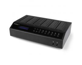 StarTech.com Base Dock USB 3.0 y eSATA Duplicador de Discos Duros con 6 Bahías SATA - Clonador y Borrador de Discos Duros 1:5 -