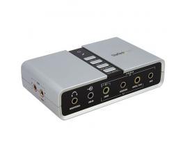 StarTech.com Tarjeta de Sonido 7,1 USB Externa Adaptador Conversor puerto SPDIF Audio Digital Óptico - Imagen 1