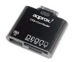 Approx appCRS lector de tarjeta Negro Samsung 30-pin - Imagen 1