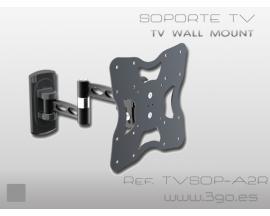 TVSOP-A2R soporte de pie para pantalla plana Negro - Imagen 1