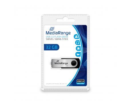 MR911 unidad flash USB 32 GB USB Type-A / Micro-USB 2.0 Negro, Plata - Imagen 1