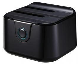 TooQ DOCK STATION SATA 2.5/3.5 A USB 3.0 CLONE OTB NEGRO - Imagen 1