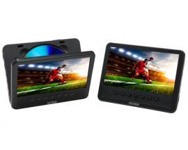 "Denver MTW-756TWINNB Reproductor de DVD portátil Mesa Negro 17,8 cm (7"") - Imagen 1"