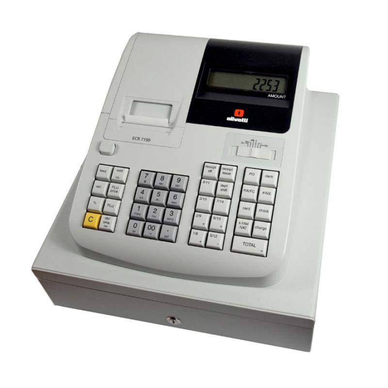 ECR 7190 caja registradora 500 PLUs Inyección de tinta térmica LCD - Imagen 1