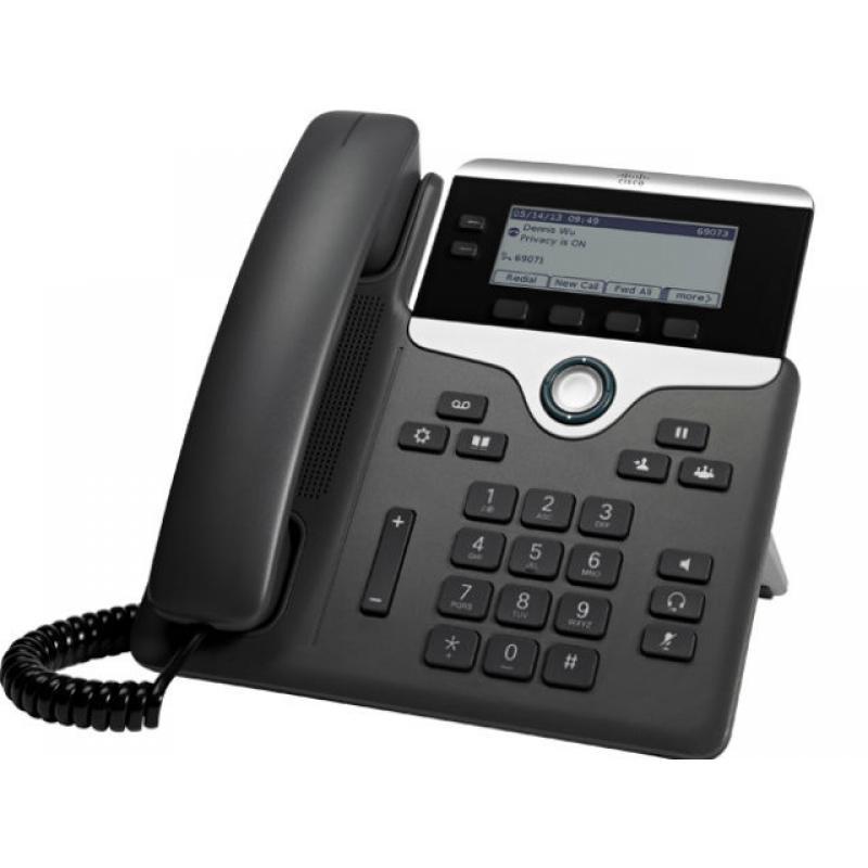 7811 teléfono IP Negro, Plata Terminal con conexión por cable LED 1 líneas - Imagen 1