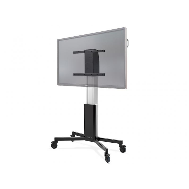 "10080251 soporte de pie para pantalla plana Fixed flat panel floor stand Aluminio, Negro 2,18 m (86"") - Imagen 1"