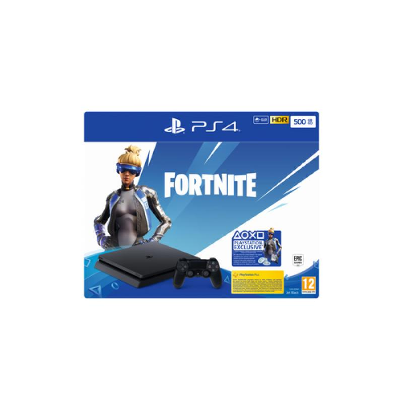 Sony PS4 500GB F + Fortnite VCH (2019) Negro Wifi - Imagen 1