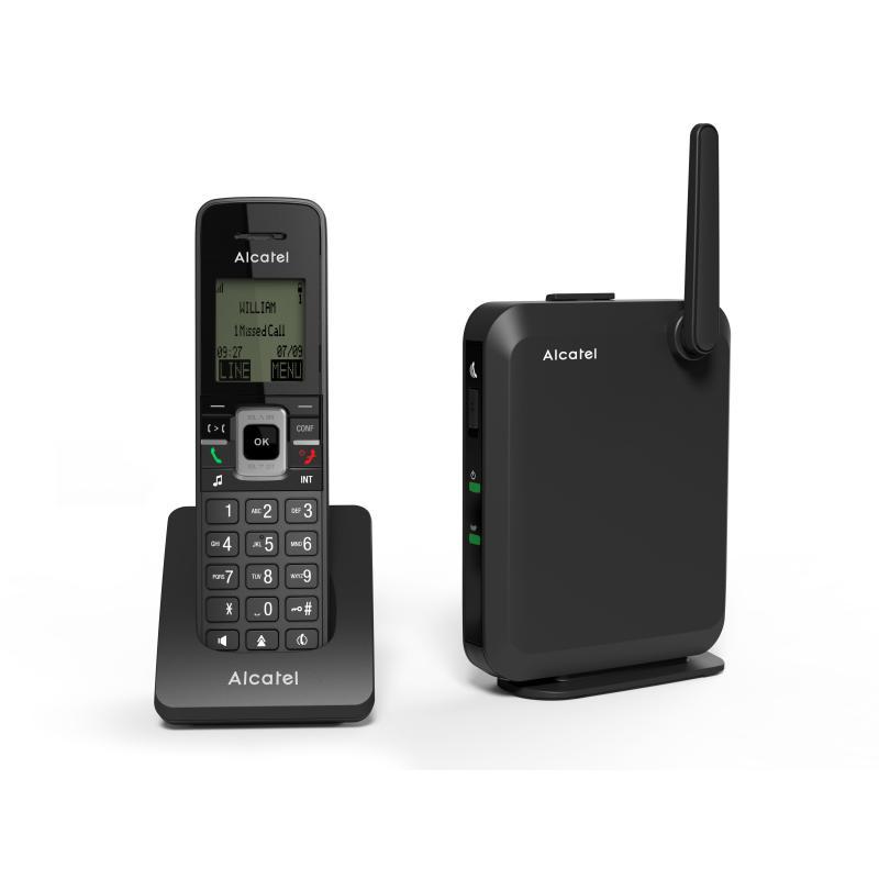 IP2215 teléfono IP Negro Terminal inalámbrico LCD 6 líneas - Imagen 1