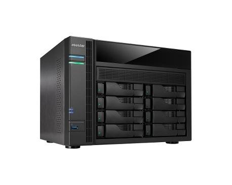Sistema de almacenamiento NAS ASUSTOR AS5008T - De Escritorio - Intel Celeron J1800 Dual-core (2 Core) 2,41 GHz - 1 GB RAM DDR3L