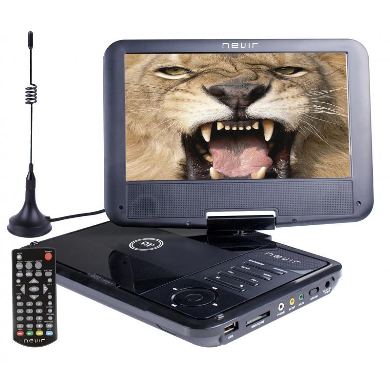 "NVR-2767DVD-PUCT2 reproductor de dvd/bluray portátiles Reproductor de DVD portátil Convertible Negro 22,9 cm (9"") 800 x 480 Pixe"