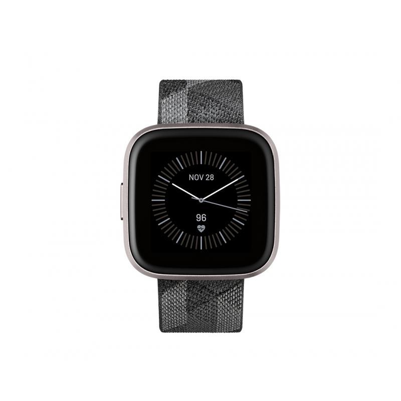 "Versa 2 reloj inteligente Negro, Gris AMOLED 3,55 cm (1.4"") - Imagen 1"