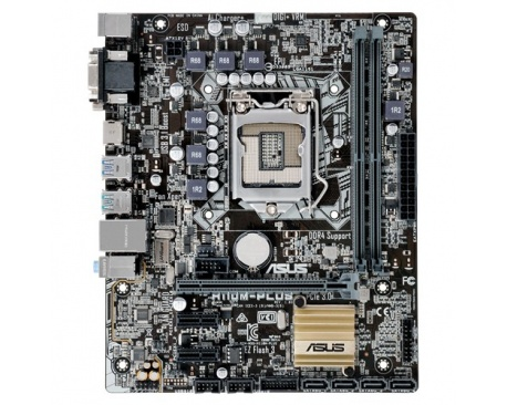 ASUS H110M-Plus. Supported memory types: DDR4-SDRAM, Memory slots type: DIMM, Supported memory clock speeds: 2133 MHz. Processor