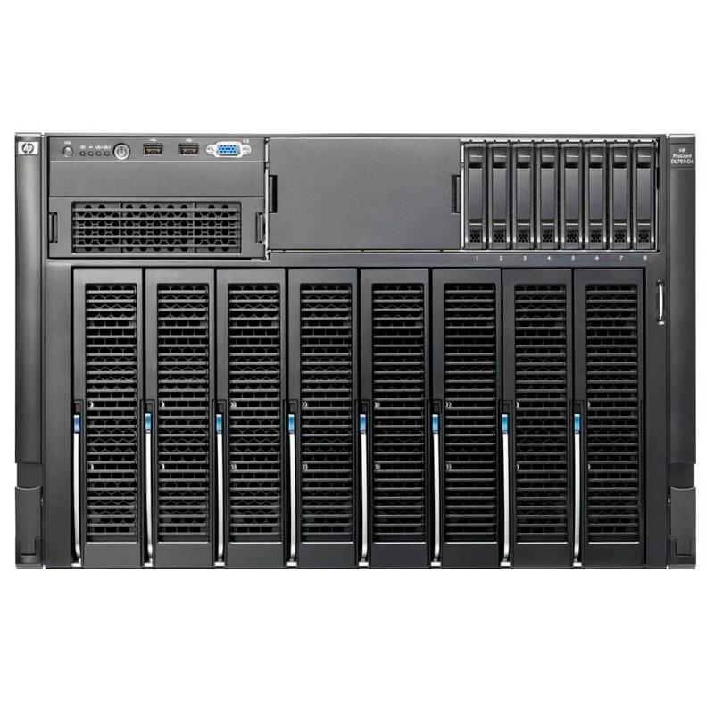 HP ProLiant DL785 G58xAMD Opteron Quad Core 2,3 GHz (32 núcleos) - 256 Gb. DIMM DDR2 - 8x146Gb SAS 2,5'' 10K - Smart
