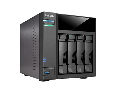 Sistema de almacenamiento NAS ASUSTOR AS6104T - De Escritorio - Intel Celeron N3050 Dual-core (2 Core) 1,60 GHz - 2 GB RAM DDR3L