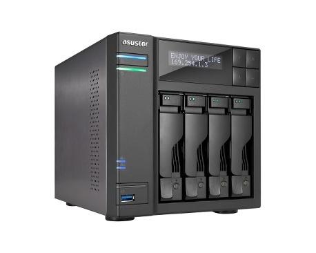 Sistema de almacenamiento NAS ASUSTOR AS6204T - De Escritorio - Intel Celeron N3150 Quad-core (4 Core) 1,60 GHz - 4 GB RAM DDR3L