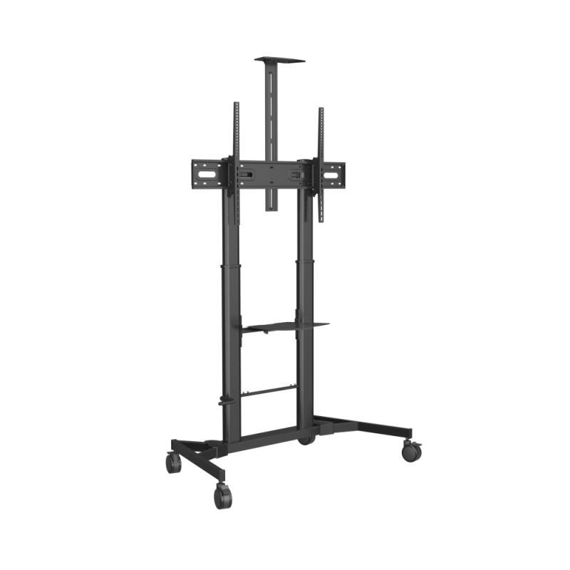 "VFM-F25 soporte de pie para pantalla plana 2,54 m (100"") Portable flat panel floor stand Negro - Imagen 1"