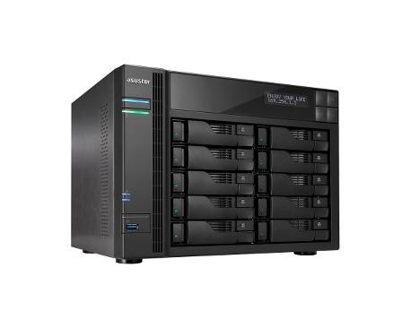 Sistema de almacenamiento SAN/NAS ASUSTOR AS6210T - De Escritorio - Intel Celeron Quad-core (4 Core) 1,60 GHz - 4 GB RAM DDR3L S
