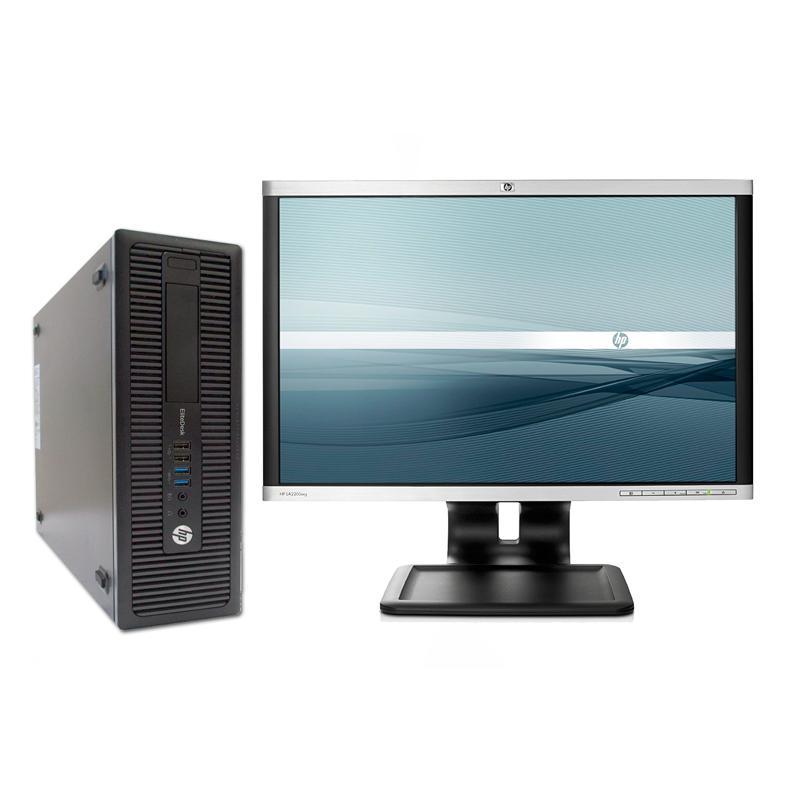 HP 800 G1 SFF i5 + TFT 20''Intel Core i5 4590S 3 GHz. · 8 Gb. DDR3 RAM · 500 Gb. SATA · COA Windows 7 Pro actualizado a W10