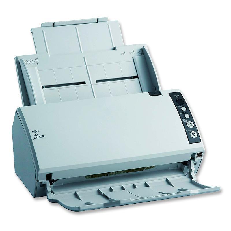 Fujitsu fi-6110 Tecnología: Escaner Color de Documentos - Sensor de Imagen: Color CCD - Velocidad Escaneo: Hasta 20 ppm - Resolu