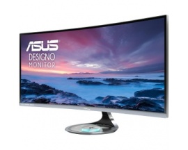 "ASUS MX34VQ 34"" Ultra-Wide Quad HD LED Mate Curva Gris pantalla para PC"