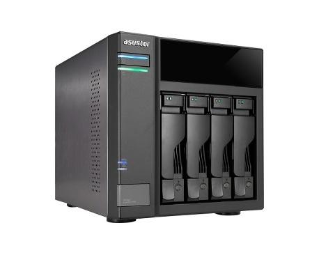 Sistema de almacenamiento DAS ASUSTOR AS6004U - De Escritorio - 4 x HDD admitido - 40 TB Capacidad de unidad de disco duro admit