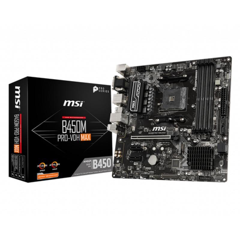 MSI B450M PRO-VDH Max placa base Zócalo AM4 Micro ATX AMD B450 - Imagen 1