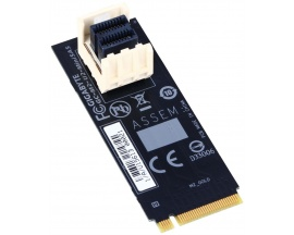 Gigabyte GC-M2-U2-MiniSAS. Host interface: M.2, PCIe version: 3.0. Bandwidth: 32 Gbit/s. Colour of product: Black, Country of or