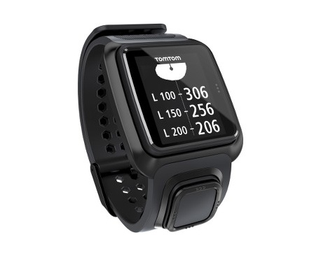 "TomTom Golfer Reloj GPS - Muñeca Portátil - Negro - 3,5 cm (1,4"") Pantalla - 144 x 168 - GPS - 10 Hora(s) - Golf - Resistent"