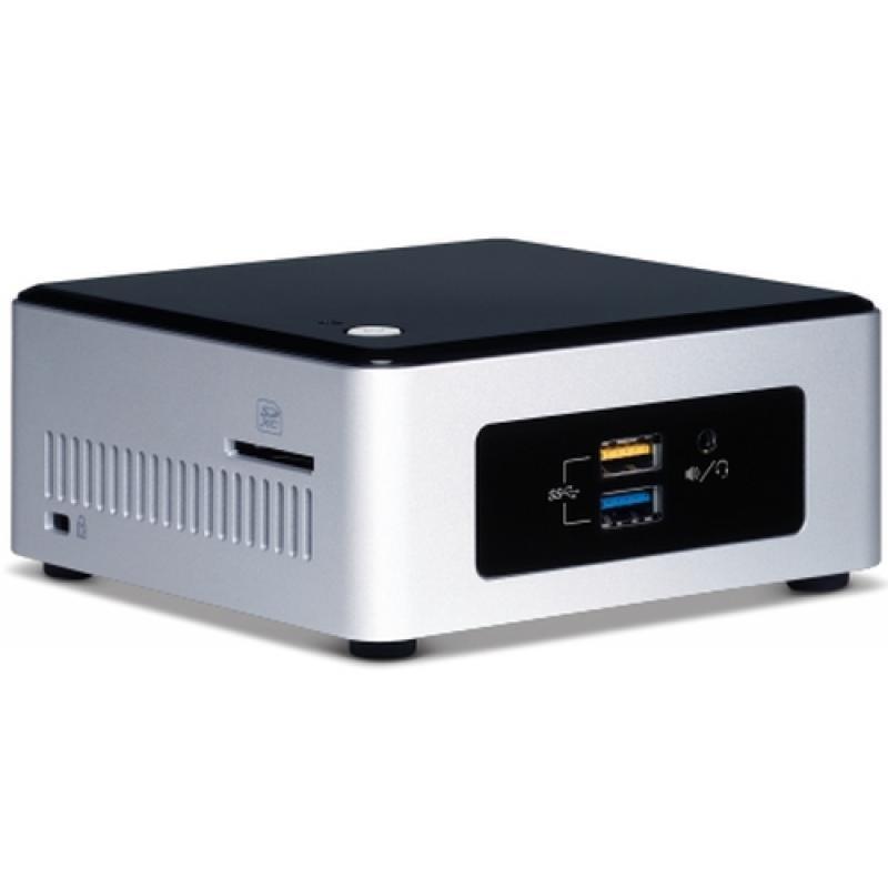 Intel BOXNUC5PPYH PC/estación de trabajo barebone N3700 1,6 GHz UCFF Plata, Negro BGA 1170 - Imagen 1