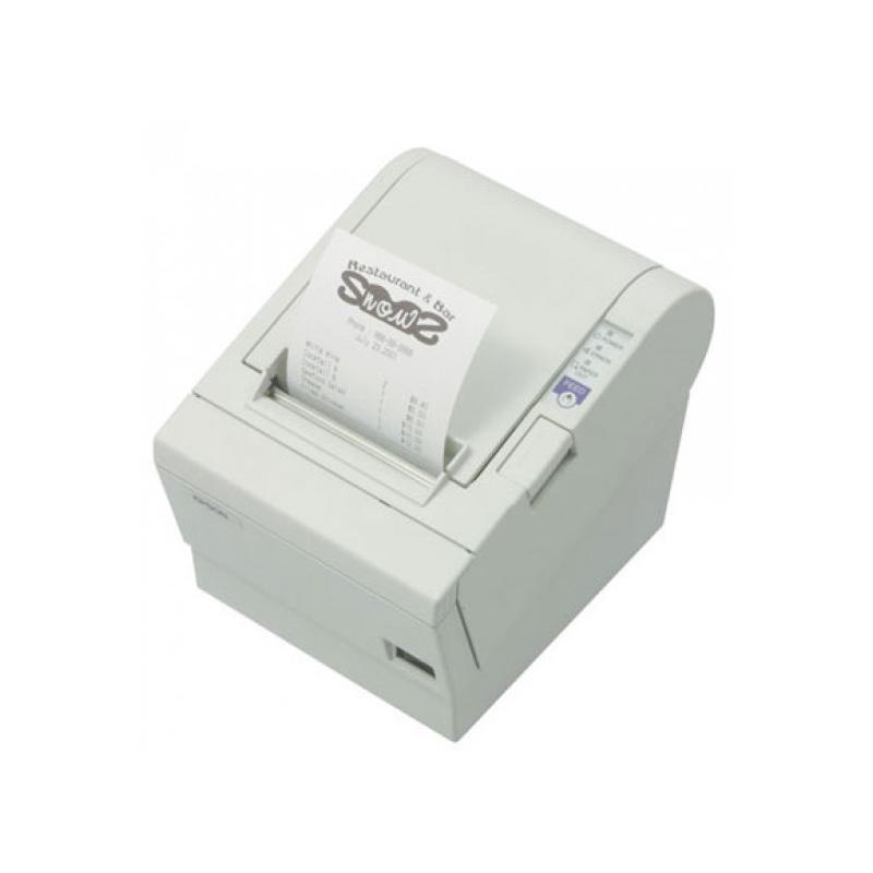 Epson TM-T88 IIP Térmica · Ancho de papel 80mm · Corte automático · Velocidad de impresión 28.4 mm/s · Paralelo, Apertura cajón