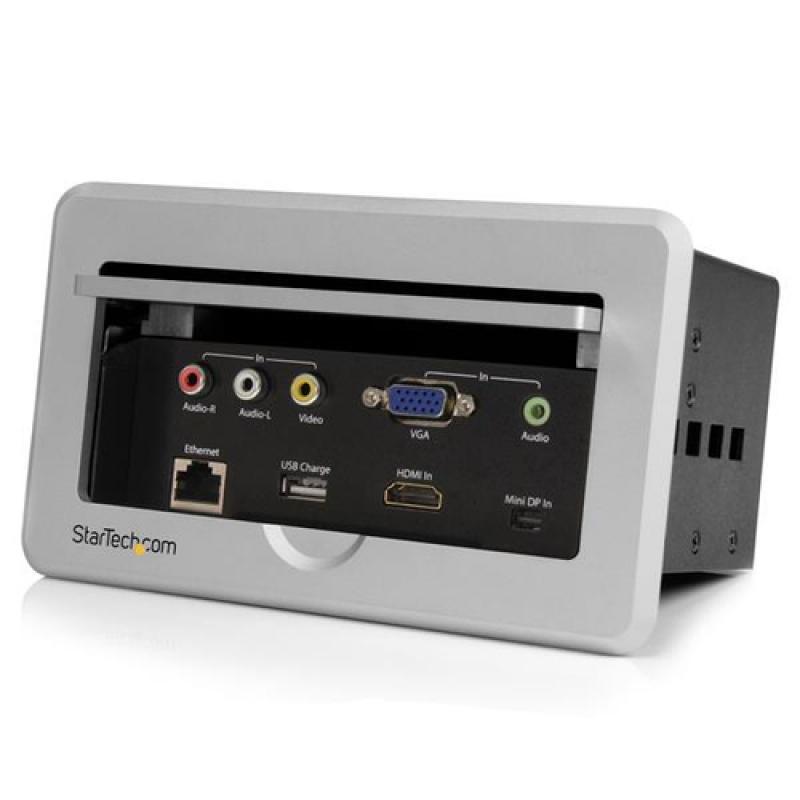 StarTech.com Caja de Conectividad para Mesa de Juntas - Módulo de Conexiones HDMI VGA y Mini DisplayPort - Imagen 1