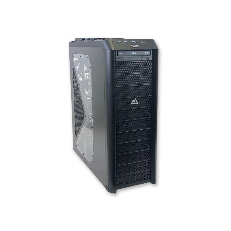 DATOM COOLER MASTER VIVIntel Core i7 4770K 3.5 GHz. · 32 Gb. DDR3 RAM · 2x 128 Gb. SSD · 1.00 Tb. SATA · nVidia GeForce GTX7