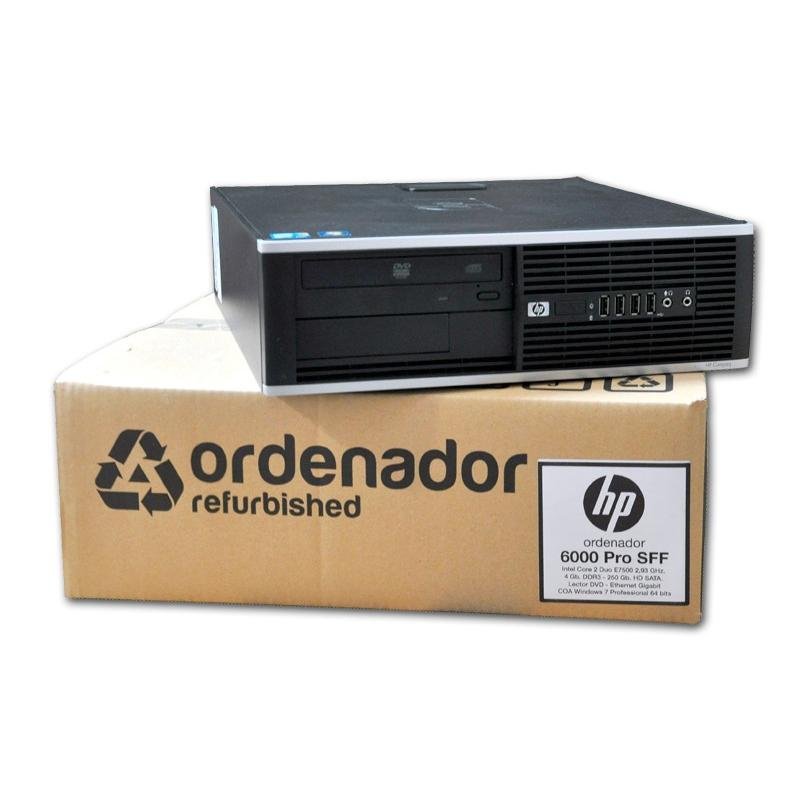 HP 6000 Pro Intel Core 2 Duo E7500 2.93 GHz. · 4 Gb. DDR3 RAM · 250 Gb. SATA · DVD-RW · COA Windows 7 Pro - Imagen 1
