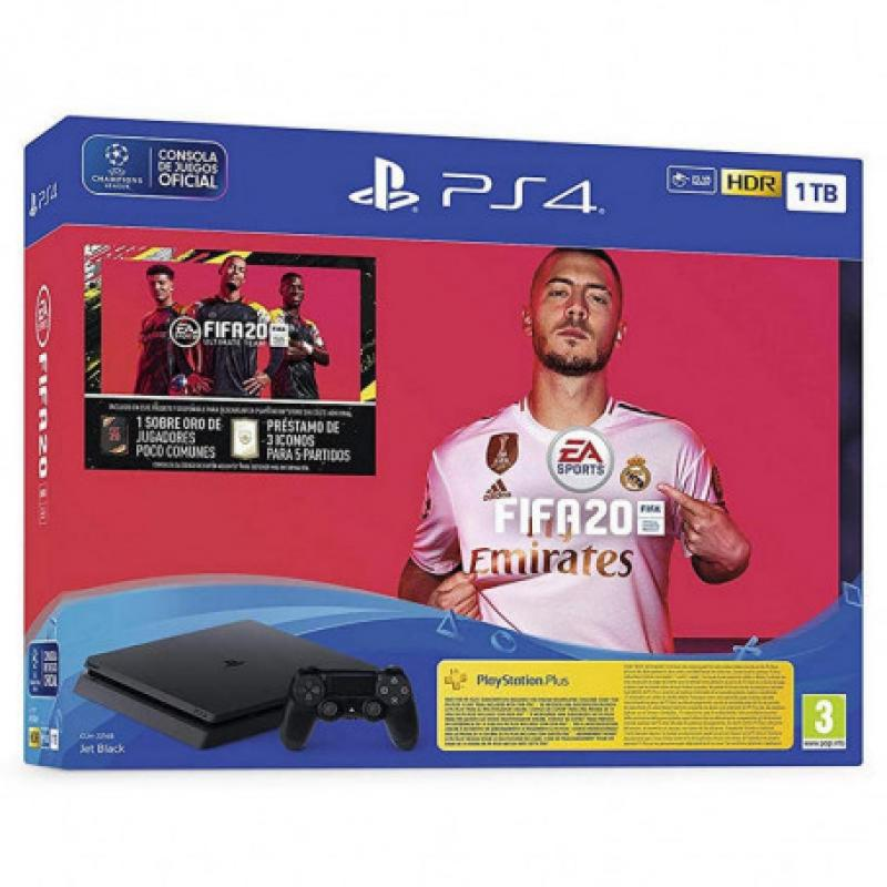 Sony PlayStation 4 + FIFA 20 Negro 1000 GB Wifi - Imagen 1