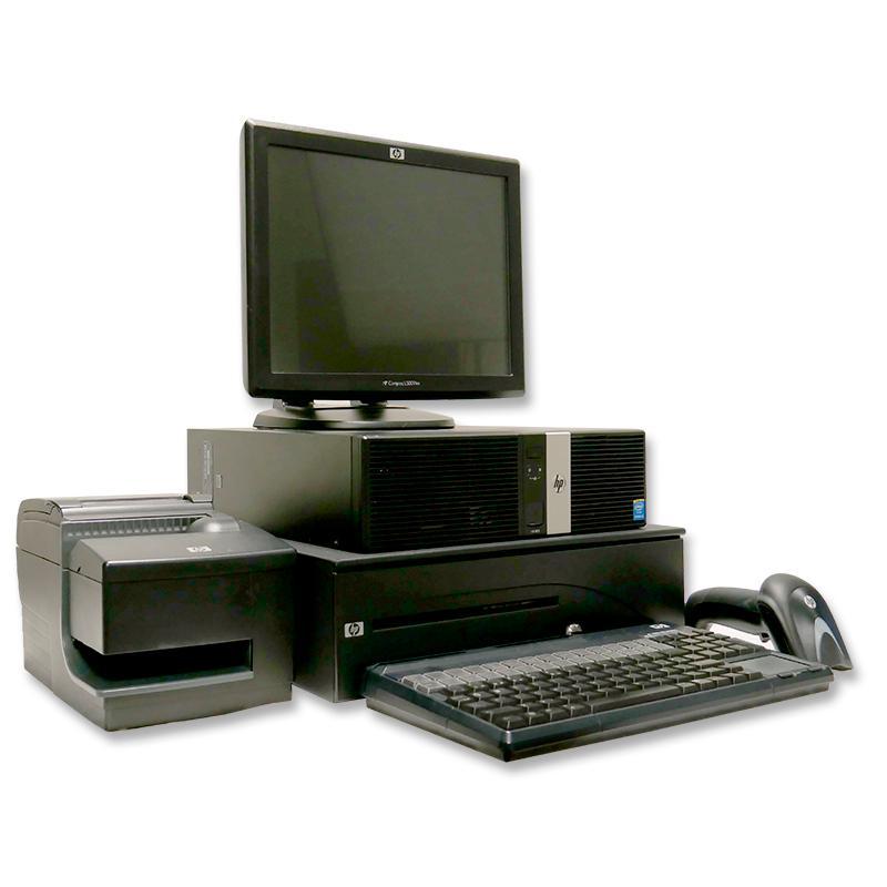 HP RP5800 TPV KIT Intel Core i5 2400 3,1 GHz. - Monitor HP L5009TM Táctil 15'' - Impresora HP A776-C21W - Cajón Portamonedas - L