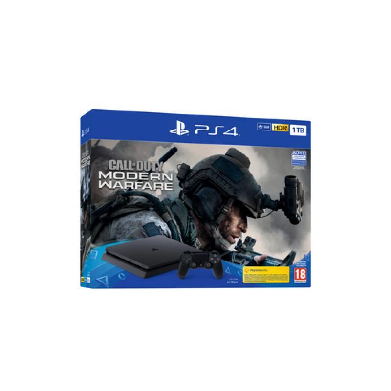 Sony PS4 + Call of Duty Modern Warfare Negro 1000 GB Wifi - Imagen 1