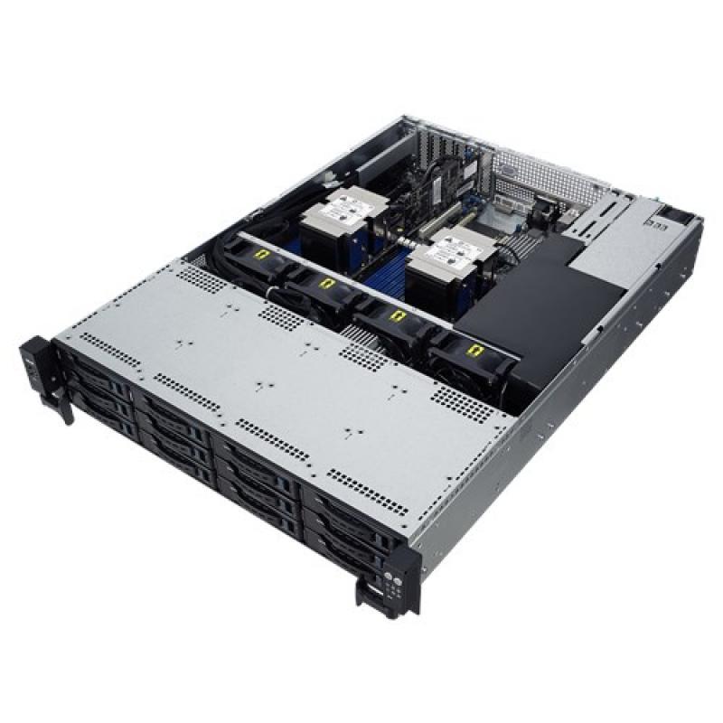 ASUS RS520-E9-RS12 Intel® C621 LGA 3647 Bastidor (2U) Negro, Acero inoxidable - Imagen 1