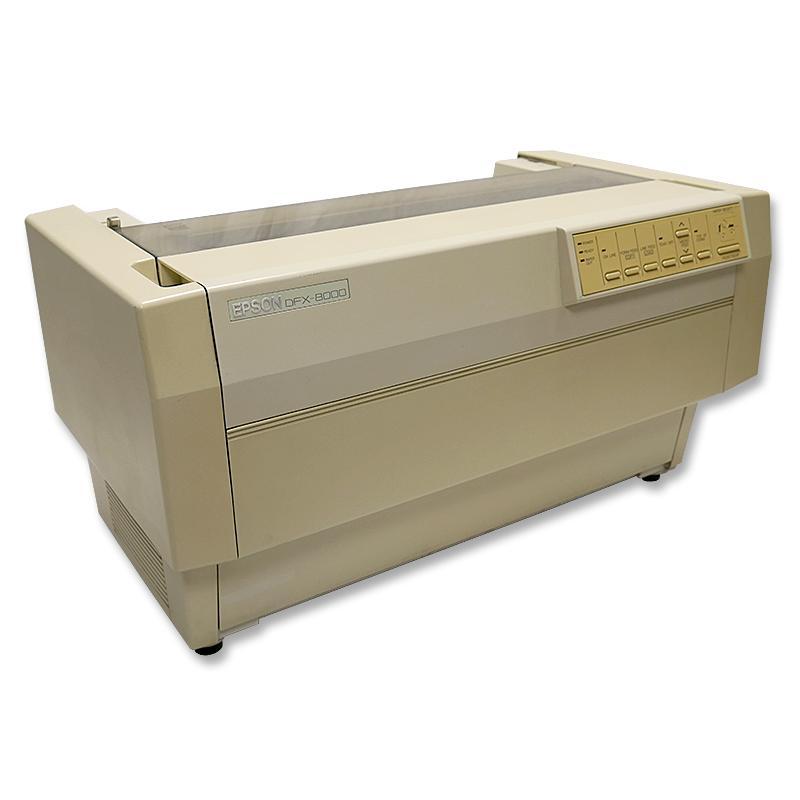 Epson DFX-8000Matricial 9 agujas - 186 columnas - Hasta 1000 cps -3 KB - Original + 5 copias - 1xParalelo, 1xSerie - Falta C
