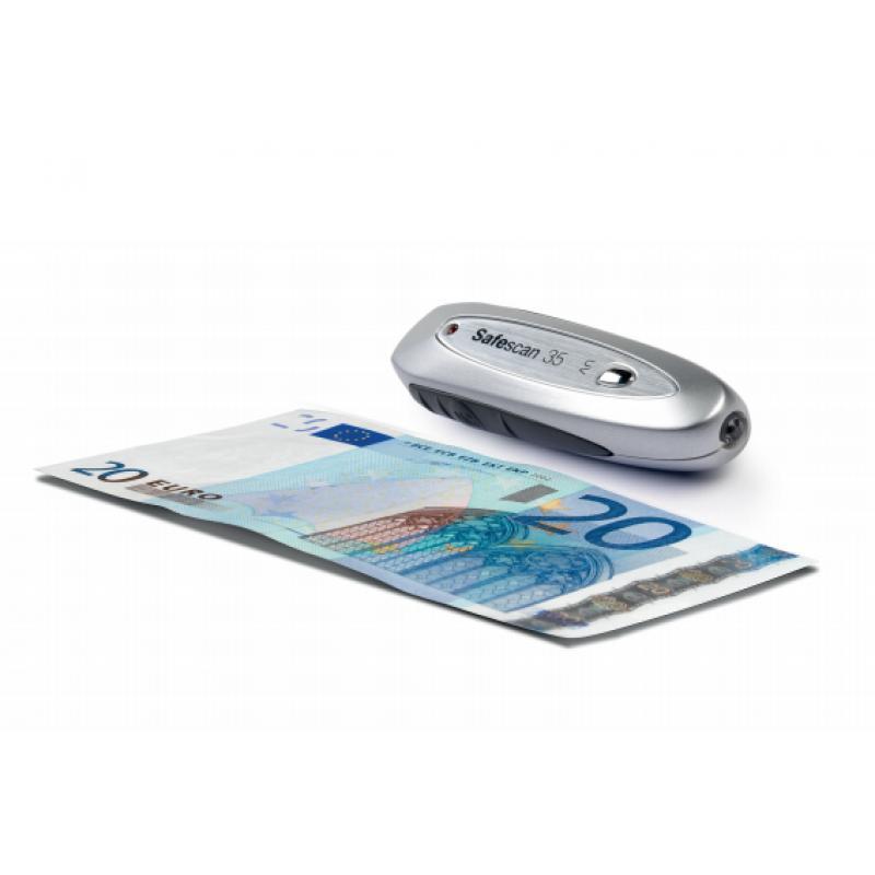 35 detector de billetes falsos Gris, Plata - Imagen 1