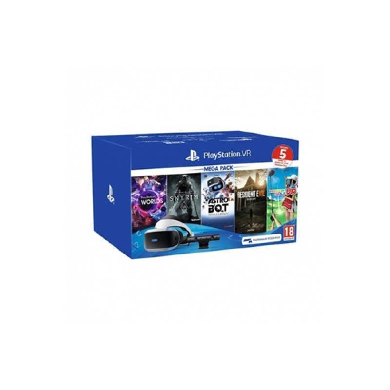 Sony PlayStation VR + 5 juegos + Camara V2 Pantalla con montura para sujetar en la cabeza Negro, Blanco 610 g - Imagen 1