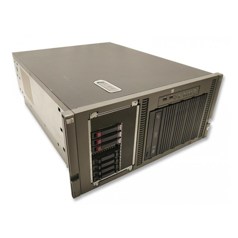 HP ML350 G5 RACK Intel Xeon E5130 2 GHz. · 16 Gb. DDR3 ECC RAM · 8 bahías (4 vacías ) · 3x 146 Gb. SAS 2.5'' 15000rpm · 300 Gb.